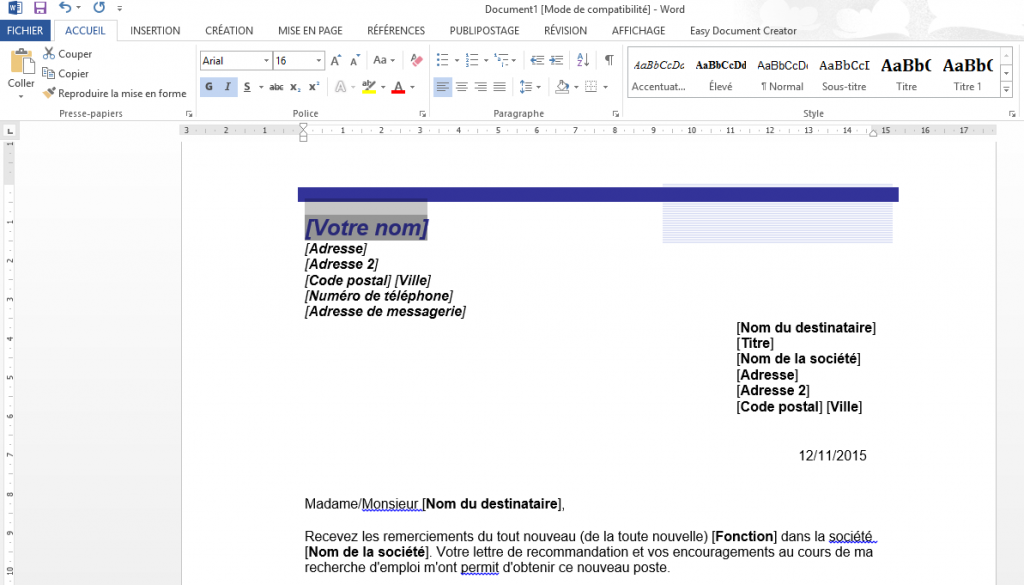 comment cr u00e9er et enregistrer un document word