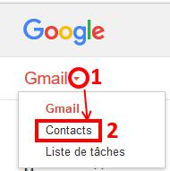 Gmail afficher la liste des contacts
