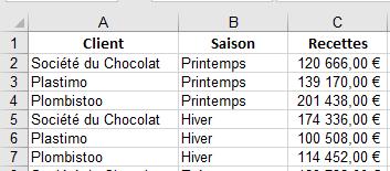 Quizz Excel insertion d'une colonne
