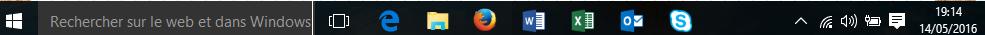 quizz barre des ta^ches Windows