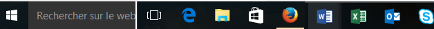 quizz barre des tâches windows