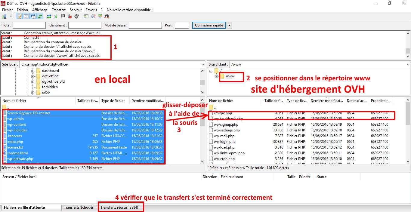 installer manuellement le programme ftp thème wordpress