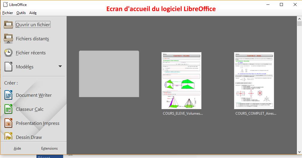 comment rédiger un document avec LibreOffice