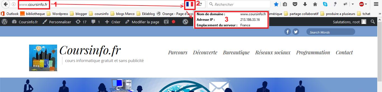 Quelle est l'adresse IP d'un site web
