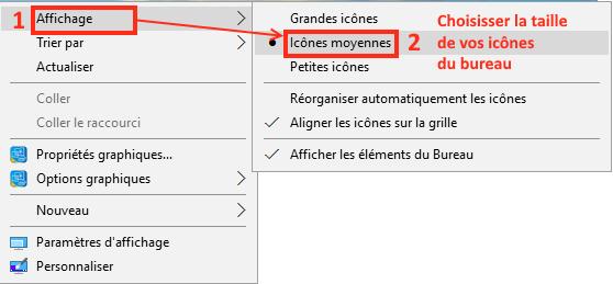 Comment modifier la taille des icônes du bureau Windows ?