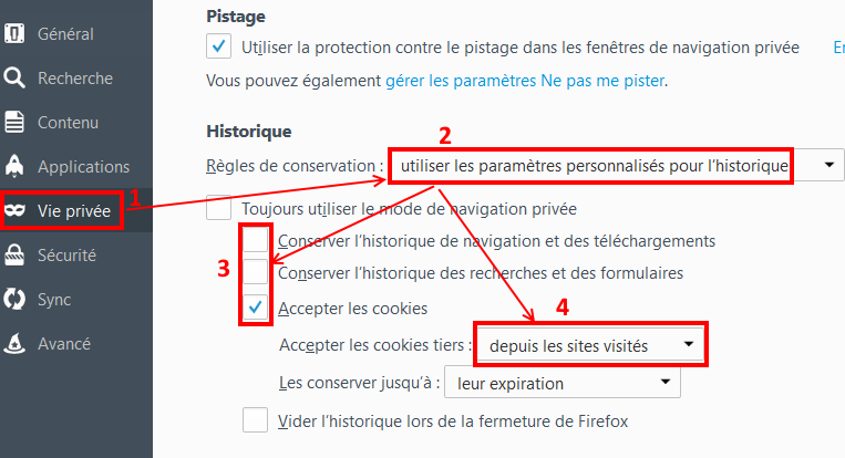 Comment paramétrer le navigateur Firefox ?