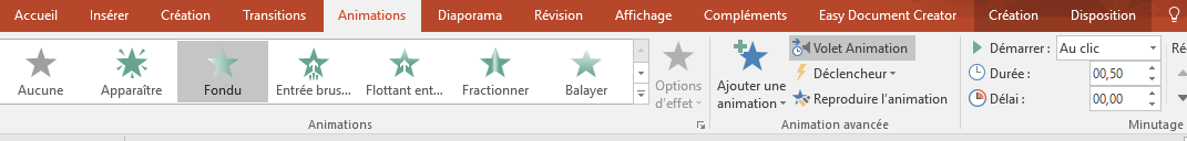 Les animations Powerpoint