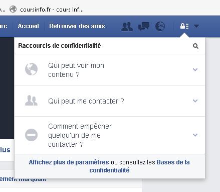 Facebook confidentialité