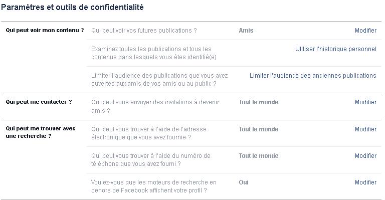profil par défaut Facebook