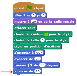 scratch programme courbes 2