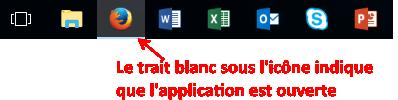 comment marche la barre des tâches Windows ?