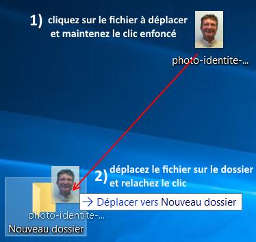 comment mettre un fichier dans un dossier Windows ?